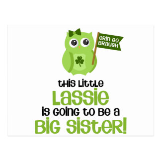 This Little Lassie Big Sister Postcard
