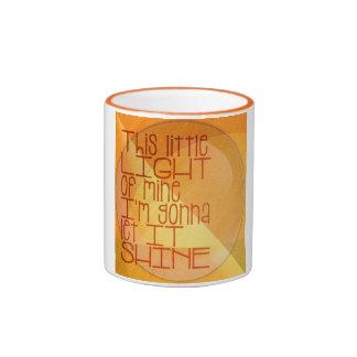 This Little Light of Mine Inspirational Ringer Coffee Mug