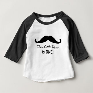 This Little Man is one, Mustache Baby T-Shirt