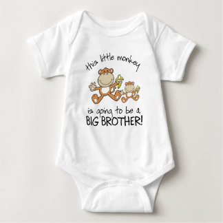 this little monkey big brother baby bodysuit