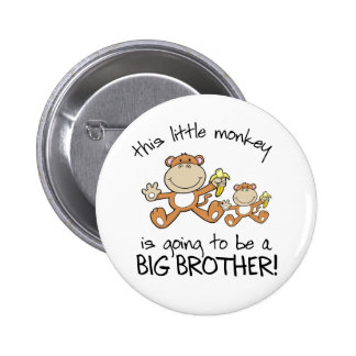 this little monkey big brother button