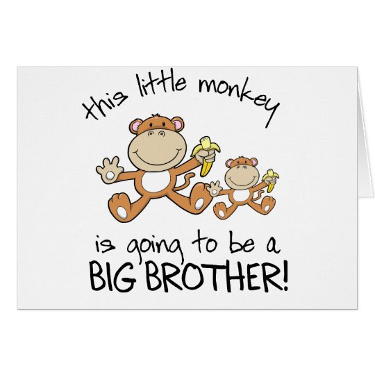 this little monkey big brother card