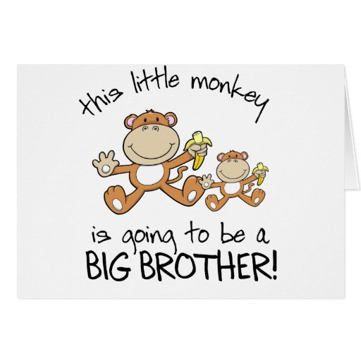 this little monkey big brother greeting cards