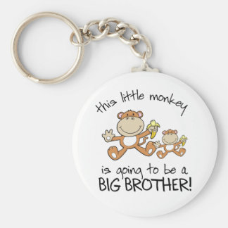 this little monkey big brother keychain