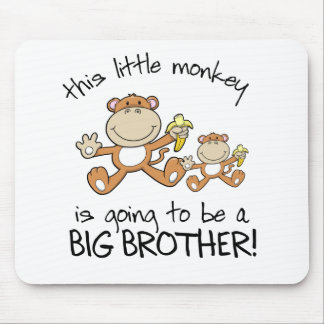 this little monkey big brother mousepad