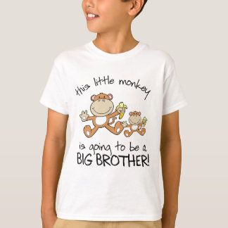 this little monkey big brother T-Shirt