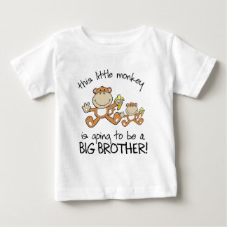 this little monkey big brother tee shirts
