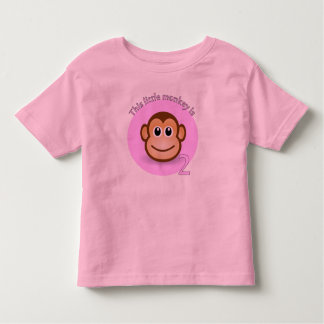 This little monkey is 2 toddler t-shirt