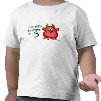 This little Monster is 3 T Shirts