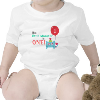 This Little Monster is One, First Birthday, Bodysuit
