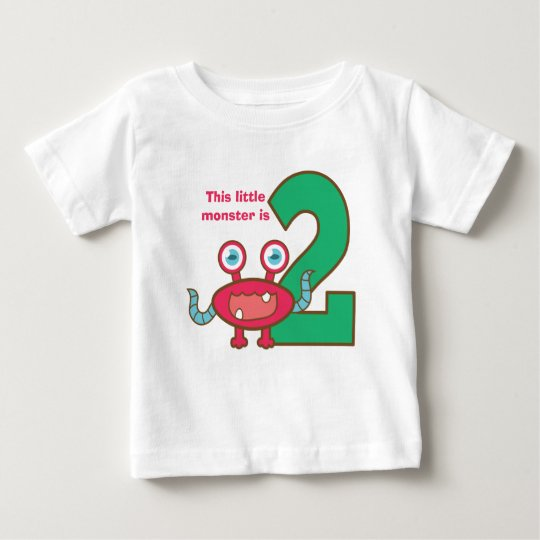 This little monster is two, 2nd birthday baby T-Shirt