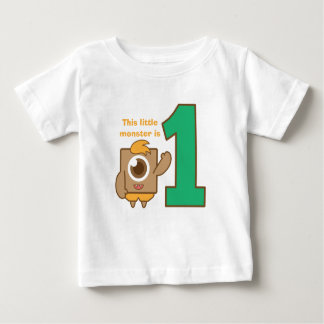 This little one eye monster is one, first birthday shirt