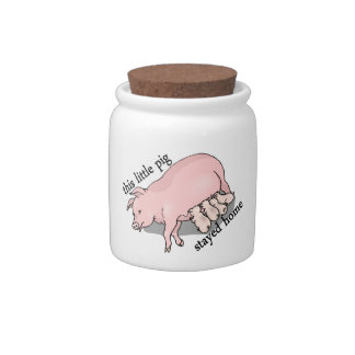 This Little Pig Stayed Home Candy Jars