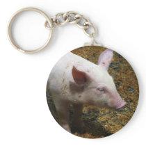 This Little Piggy - Baby Piglet Photo Keychain