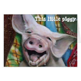 THIS LITTLE PIGGY CHRISTMAS WISHES CARD
