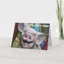 THIS LITTLE PIGGY CHRISTMAS WISHES HOLIDAY CARD