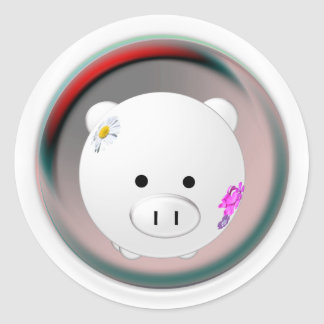 This Little Piggy Classic Round Sticker
