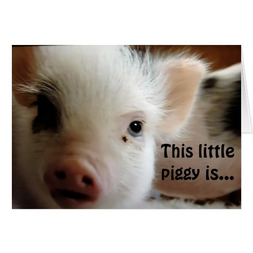 """THIS LITTLE PIGGY IS """"GLAD U R OVER THE HILL"""" CARDS"""