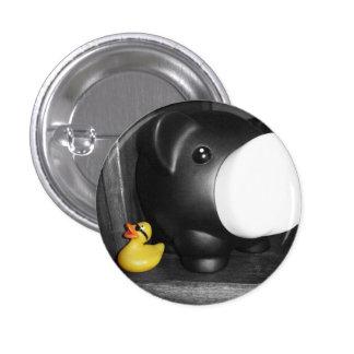 'This Little Piggy' Rubber Duck Button (small)