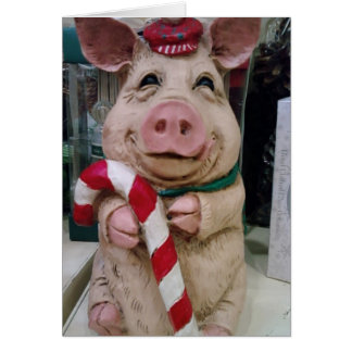 THIS LITTLE PIGGY SAYS MERRRRRY CHRISTMAS CARD