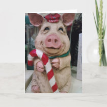 THIS LITTLE PIGGY SAYS MERRRRRY CHRISTMAS HOLIDAY CARD