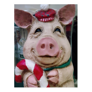 THIS LITTLE PIGGY SAYS MERRY CHRISTMAS POSTCARDS