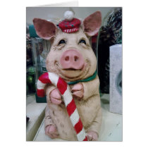 THIS LITTLE PIGGY SAYS MERRY CHRISTMAS WITH LOVE CARD