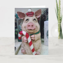 THIS LITTLE PIGGY SAYS MERRY CHRISTMAS WITH LOVE HOLIDAY CARD