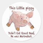 This Little Piggy was Marinated Sticker