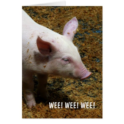 This Little Piggy - WEE! WEE! WEE! Card