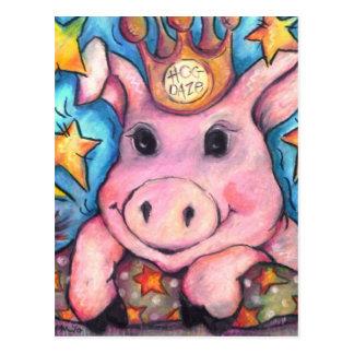 This Little Piggy Went To Hog Daze Postcard