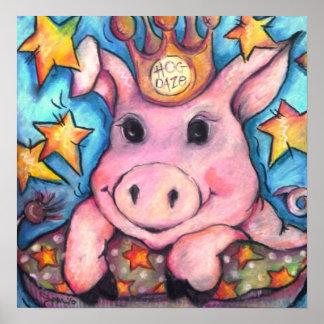 This Little Piggy Went to Hog Daze Poster