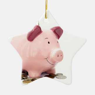 this little piggy went to the bank ceramic ornament