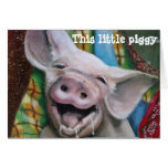 THIS LITTLE PIGGY WISHES YOU A MERRY CHRISTMAS GREETING CARDS