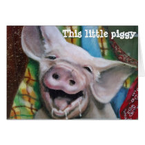 THIS LITTLE PIGGY WISHES YOU A MERRY CHRISTMAS CARD