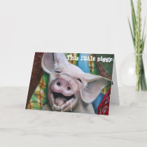THIS LITTLE PIGGY WISHES YOU A MERRY CHRISTMAS HOLIDAY CARD