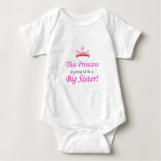 This Little Princess is going to be a Big Sister! Baby Bodysuit