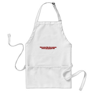This Looks Like The Contents Adult Apron