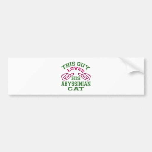 This Loves His Abyssinian Cat Bumper Sticker