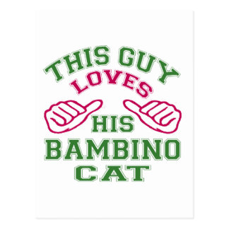 This Loves His Bambino Cat Postcard