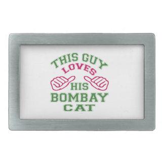 This Loves His Bombay Cat Rectangular Belt Buckle