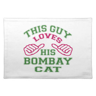 This Loves His Bombay Cat Place Mat