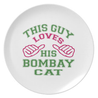 This Loves His Bombay Cat Plates