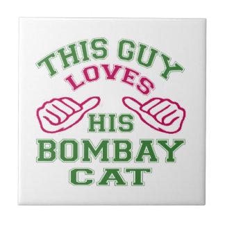 This Loves His Bombay Cat Ceramic Tiles