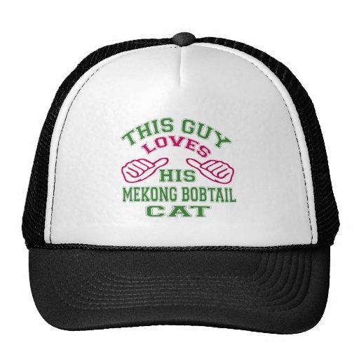 This Loves His Mekong bobtail Cat Mesh Hats