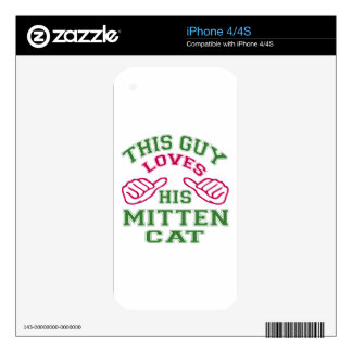 This Loves His Mitten Cat iPhone 4 Skins
