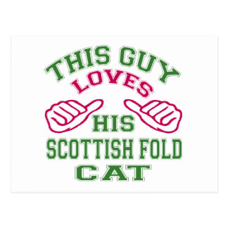 This Loves His Scottish Fold Cat Post Card