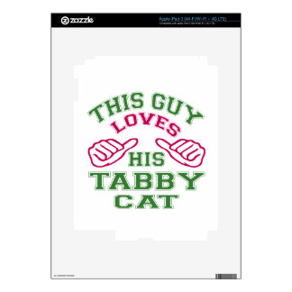 This Loves His Tabby Cat Decal For iPad 3