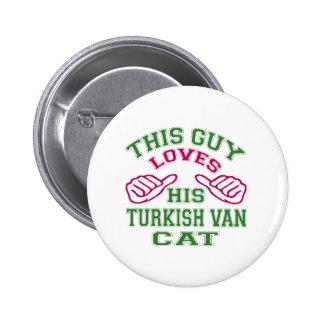 This Loves His Turkish Van Cat Pinback Button