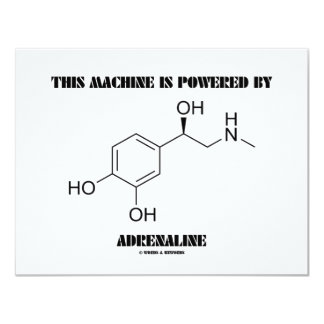This Machine Is Powered By Adrenaline (Chemistry) Personalized Invites